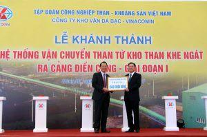 Khánh thành hệ thống vận chuyển than từ kho than Khe Ngát ra cảng Điền Công